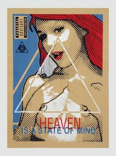 Heaven  32×44 cm  4 colour Screen Print  Numbered & Signed  2014  Edition 6  47 € Free Shipping
