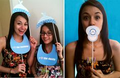 Baby shower photo booth. I lol'd at the thought of trying to get my dad in one of these pictures, haha
