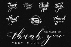 Thank You - Stickers, Prints. by zao4nik on @creativemarket