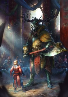 The Legend of Sir Gawain and the Green Knight by EGOR-URSUS.deviantart.com on @DeviantArt