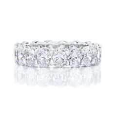 White Diamond Oval cut Eternity Band - 7ct / 0.40ct each stone / EF / 6