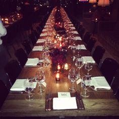 Gorgeous table setting last night at  Elle Women in Television event!