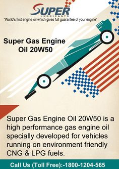 Super gas engine oil 20W50 is a high performance gas engine oil.