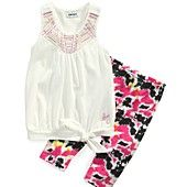 DKNY Kids Set, Little Girls 2-Piece Tank and Leggings