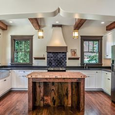 recycled wood kitchen island