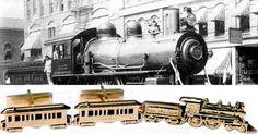 Railroad Train Tie Clip Cufflink Set NY Empire State Express Locomotive Clip Lake Dewey White Pass Yukon Railroad Cufflinks Pioneer 10K Gold Overlay by JewelryQuest