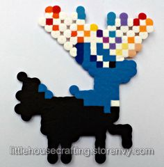 In honor of Pokemon X and Y coming out in October, I made a Xerneas perler!  This perler is 5 inches tall and 4 inches wide.  Perlers are assembled by me in a smoke-free environment.   These are fan made perlers and are not official Nintendo products.  Don't see what you like? Commissions...