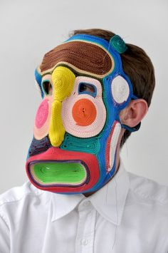 Masks by Bert Jan Pot (and there are more amazing ones!) Mask Design, Design Art, Textiles, Masks Art, Large Canvas Art, Art Plastique, Fascinator, Headpiece, Fiber Art