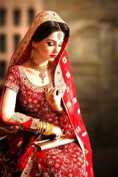 Indian Wedding Dress... all red!! #wedding #dresses