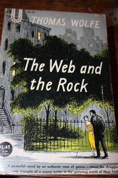 vintage paperback book THOMAS WOLFE THE WEB AND THE ROCK   ED GOREY COVER