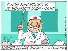 """""""Il Mondo in una Vignetta"""" di Ettore Frangipane: Silvio Berlusconi e il rilancio di Forza Italia…"""