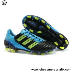 check out b3a75 0791c Authentic Adidas Predator XI TRX FG Boots Black Blue Green For Sale Cheap  Soccer Shoes,