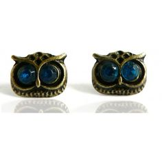 Boucles d'oreilles #Chouettes bleues - #Boucles d'oreilles Femme