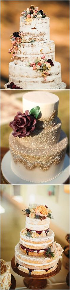 Fall Weddings » Fall in Love with These 29 Amazing Fall Wedding Cakes #weddingcakes