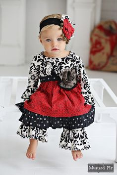 Beautiful baby Olivia dress set from the enchanted collection.. This little set will make stunning holiday photos and will be perfect all winter long.