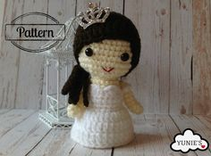 Kirbie doll amigurumi crochet pattern by Yunies on #Etsy  #amigurumi #crochet #handmade #crochetpattern #handmade #wedding #bride #yarn