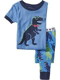 Dinosaur-Graphic PJ Sets for Baby