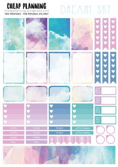 Dreamy sky stickers pinned by ∙⋞ ✦ Karen of CraftedColour ✦ ⋟∙