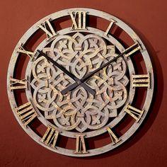 Celtic Knot Celtic Decor, Celtic Art, Teal Wall Clocks, Irish Decor, Clock Decor, Wooden Clock, Faux Stone, Celtic Designs, Home Decor Wall Art