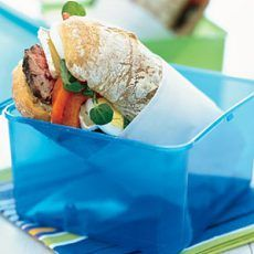 Grilled Steak Sandwiches with Brie, Roasted Peppers, and Watercress