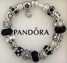 Tendance Bracelets New Authentic S Silver Pandora Bracelet Black Love Heart Charms
