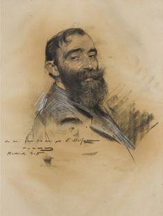 Eliseo Meifrèn Roig (1859-1940). Retrato de Eliseo Meifrén por Ramón Casas