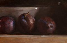 Plums and grey bowl. JMS 8-26-14