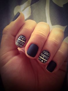 Aztec nails!!! Omg! I love love love these nails! Matte nails will be my next trend!! | Repinned by @jonssonkamperin