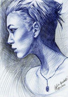 Acı female portrait drawing #portraitdrawings