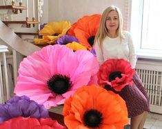 Giant foam anemones large anemones anemones flowers   Etsy Hibiscus Flowers, Giant Paper Flowers, Large Flowers, Childrens Room Decor, Baby Room Decor, Wedding Flower Decorations, Wedding Flowers, Wedding Ideas, Invitations