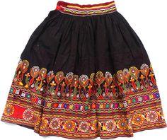 Gypsy Kutch Skirt Vintage Banjara Skirt Hand by maharajacraftbazar Indian Skirt, Indian Dresses, Indian Outfits, Afghan Clothes, Afghan Dresses, Ethnic Fashion, Boho Fashion, Fashion Dresses, Choli Designs