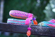 Cuff Bracelet Friendship Bracelet Summer by BlackCatCreativeStd