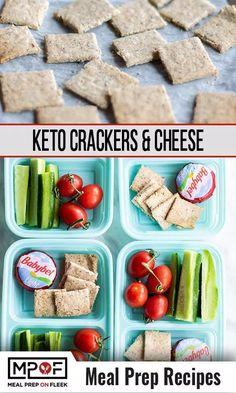 Keto Cracker Snack Boxes - Meal Prep on Fleek™ Lunch Meal Prep, Easy Meal Prep, Dinner Meal, Almond Recipes, Keto Recipes, Dinner Recipes, Healthy Recipes, Lunch Recipes, Keto Snacks