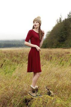 Melody Maroon Dress