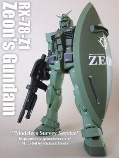 完成品 RX-78-Z1 ガンダム ジオン鹵獲仕様 Modelers Survey Service