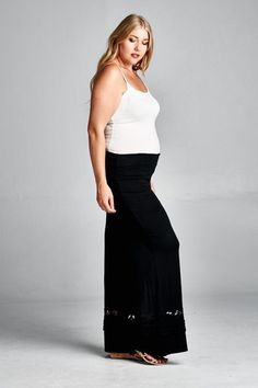 V.I.Peace Black Plus Maternity Pants