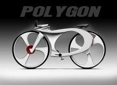 La bici del polígono fue diseñada por Reindy Allendra. Inspirado por el diseño de ADN humano, esta bici tiene controles para iPod/MP3 incorporado al área del manejo. .