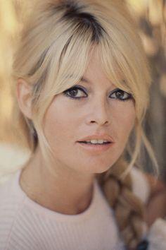 Brigitte Bardot, perfect blonde with dark roots