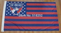 FC Dallas: Stars, Stripes, and FC USA Flag; 3'x5'