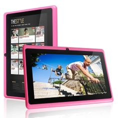 FastTouch(TM) 7'' Tablet PC 4GB - PINK, Allwinnwer A13 Boxchip Cortex A8 Android 4.1, 512MB Ram, Multiple Touch...