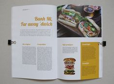L'insouciant Magazine - layout, book, colors, mise en page, édition, couleur, exergue, focus, sandwich, banh mi, food