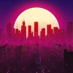 outrun city life futuristic artwork digital art new retro wave Uicideboy Wallpaper, Anime Wallpaper Live, Anime Scenery Wallpaper, New Retro Wave, Retro Waves, Arte 8 Bits, Vaporwave Wallpaper, Space Artwork, Cyberpunk City