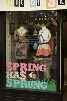 Spring time shop window for Bit of Skirt - Lincoln