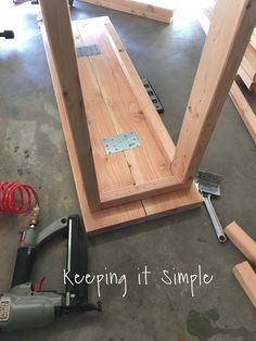 How to Build a Sofa Table for Only $30 • Keeping it Simple