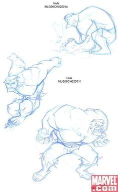Jeff Matsuda - Hulk Character Design Page