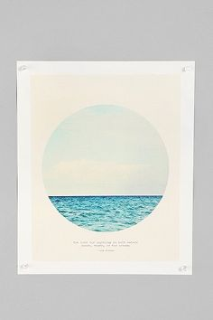 "Tina Crespo For Society6 Salt Water Cure Print.... ""the cure for anything is salt water. sweat, tears, or the ocean"""