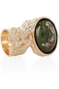 PRETTY! Yves Saint Laurent - Arty rose gold-plated glass ring