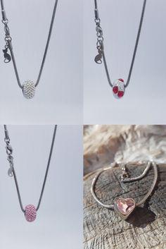 Čtyři nové náhrdelníky s kamínky Swarovski. Náhrdelníky představují spojení krásy a jednoduchosti aneb méně je někdy více... Washer Necklace, Swarovski, Silver, Jewelry, Design, Jewlery, Jewerly, Schmuck