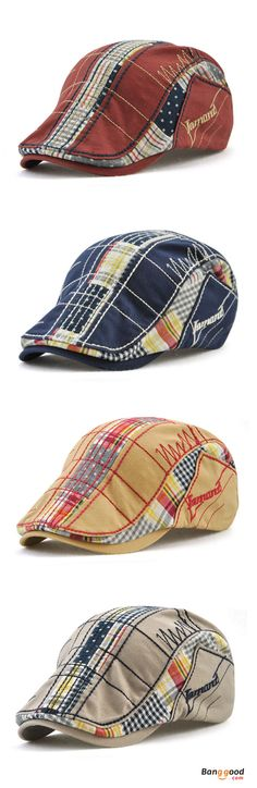 US$10.98+Free shipping. Men Caps, Beret Hat, Golf Gentleman Cap, Cotton, Washed, Stripes, Embroidery. Color: Wine Red, Gray, Dark Blue, Yellow, Black. Shop now~