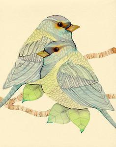 Bird study - View from my window (Detail)Colleen Parker - another great bird artist! Watercolor Bird, Watercolor Paintings, Watercolours, Art Aquarelle, Bird Drawings, Little Birds, Art And Illustration, Bird Art, Beautiful Birds